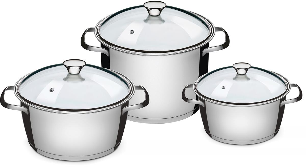 Набор посуды Tramontina Allegra, 3 предмета. 65660/024-TR65660/024-TRTramontina Allegra отличается практичностью и надежностью в каждой детали. Это посуда, в которой нет ничего лишнего, увеличивающего стоимость, и которая идеально подходит для каждодневного приготовления пищи в течение долгого времени.Корпус изделий, входящих в коллекцию, выполнен высококачественной хром-никелевой аустенитной нержавеющей стали с низким содержанием углерода, обладающей высокими эксплуатационными характеристиками – она устойчива к агрессивным пищевым кислотам и щелочам и не вступает в реакцию пищей.Толщина стенок корпуса составляет 0,5 мм, что соответствует российским и европейским нормам. Качество стали гарантирует максимальную безопасность посуды, как в процессе приготовления, так и в процессе хранения продуктов. Для изготовления крышек используется самый качественный материал – огнеупорное стекло с повышенной сопротивляемостью к механическим воздействиям. Можно не беспокоиться о том, что крышка неожиданно лопнет (как часто бывает с недорогой посудой китайского производства), кроме того, она с легкостью выдерживает падение с полутораметровой высоты на жесткий пол. Удобные ручки из нержавеющей стали с креплением на точечной сварке, что гарантирует простоту в уходе и гигиеничность. Посуду с ручками на точечной сварке удобно мыть как вручную, так и в посудомоечной машине, не боясь, что агрессивные моющие средства во взаимодействии с алюминием образуют налет, как это бывает иногда с посудой, ручки которой имеют клепочное крепление. Дно посуды - трехслойное, с теплораспределительным слоем из алюминия, производится с использованием технологии Impact, благодаря которой алюминий под давлением пресса с усилием в 3000 тонны заполняет целиком всю капсулу дна, создавая единое целое корпус-алюминиевый диск-дно. Отсутствие пустот благоприятно сказывается на теплораспределительных свойствах дна и гарантирует долгий срок службы.- Общая толщина дна: до 5,1 мм - Толщина теплораспределительного слоя: 