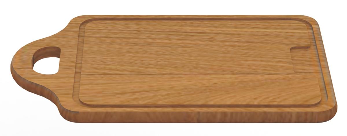 Доска разделочная Tramontina Tradicional, с ручкой, 45 х 28 х 1,8 см10041/070-TRРазделочная доска Tramontina Tradicional - доска из южноамериканского дерева высокой плотности Жатоба. Благодаря высокой плотностибразильской древесины разделочные доски Tramontina служат дольше изготовленных из евразийских пород деревьев - чем выше плотность, темдоска более прочная и меньше впитывает влагу. Плотность древесины Жатоба 930 кг/м3, что на треть больше чем у бамбука.Антибактериальная защита Microban препятствует распространению бактерий по деревянной поверхности. Изделия с подобной защитой болеегигиеничны и безопасны, так как Microban эффективна против более чем 100 бактерий, действует 24 часа в сутки 7 дней в неделю, не стираетсяводой и моющими средствами, сохраняя свои свойства даже в случае механического повреждения кроватного столика. Прекрасно подходят для нарезания продуктов и сервировки стола. Для досок Tramontina используется дерево из возобновляемых лесов. Толщина разделочной доски: 1,8 см.