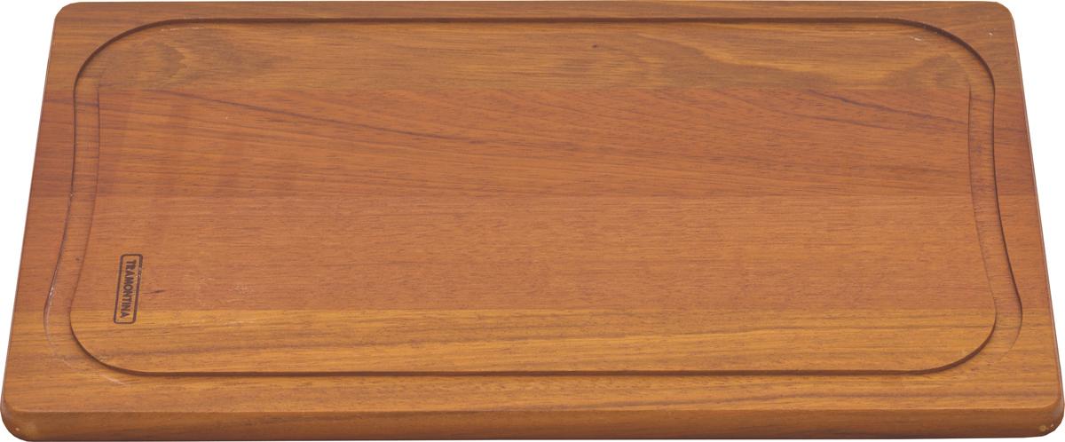 Доска разделочная Tramontina Tradicional, 37 х 23 х 1,8 см10028/070-TRРазделочная доска Tramontina Tradicional - доска из южноамериканского дерева высокой плотности Жатоба. Благодаря высокой плотностибразильской древесины разделочные доски Tramontina служат дольше изготовленных из евразийских пород деревьев - чем выше плотность, темдоска более прочная и меньше впитывает влагу. Плотность древесины Жатоба 930 кг/м3, что на треть больше чем у бамбука.Антибактериальная защита Microban препятствует распространению бактерий по деревянной поверхности. Изделия с подобной защитой болеегигиеничны и безопасны, так как Microban эффективна против более чем 100 бактерий, действует 24 часа в сутки 7 дней в неделю, не стираетсяводой и моющими средствами, сохраняя свои свойства даже в случае механического повреждения кроватного столика. Прекрасно подходят для нарезания продуктов и сервировки стола. Для досок Tramontina используется дерево из возобновляемых лесов. Толщина разделочной доски: 1,8 см.