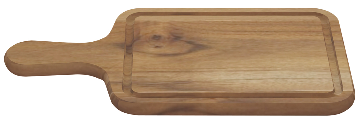 Доска разделочная Tramontina Teak, с ручкой, 34 х 19,5 х 1,4 см13237/052-TRРазделочная доска Tramontina Teak изготовлена из тикового дерева - одним из наиболее известных деревьев в мире благодаря своим ценнымсвойствам - долговечности, прочности, легкому весу, обрабатываемости и привлекательному внешнему виду. Из-за устойчивости к водетиковое дерево показывает выдающуюся долговечность в сухих и влажных условиях и считается очень ценной древесиной. Это качество тикадлительное время ценилось в кораблестроении и определило когда-то его главное направление использования - палубы и прочие деревянныечасти кораблей, где, кстати, он применяется до сих пор.Тиковая древесина обладает химической устойчивостью к воздействию кислот.Разделочные доски из тикового дерева сохраняют все ценные свойства древесины.Прекрасно подходят для нарезания продуктов исервировки стола.Для досок Tramontina используется дерево из возобновляемых лесов.Толщина разделочной доски: 1,4 см.