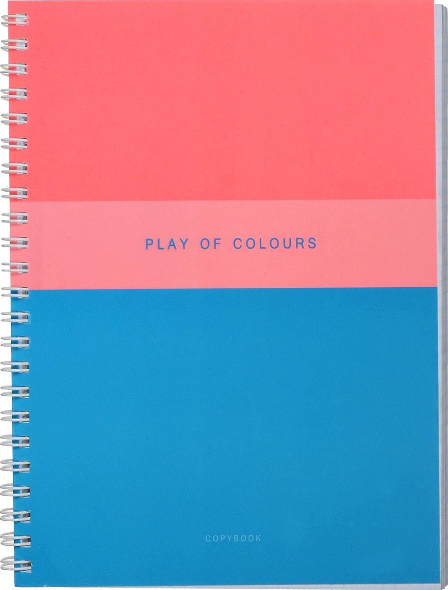 Канц-Эксмо Тетрадь Игра цвета 96 листов в клетку цвет голубой коралловыйТСЛ965233_голубой, коралловыйТетрадь Игра цвета прекрасно подойдет как для рабочих целей, так и для записей ваших творческих мыслей.Красивый дизайн и качественный внутренний блок.В тетради 96 листов офсетной бумаги в клетку формата А5.Плотность бумаги составляет 60 г/м2. Обложка тетради выполнена мелованным картоном. Пантонная печать, выборочный лак. На листах в тетради нет полей. Крепление листов в тетради Игра цвета - гребень.