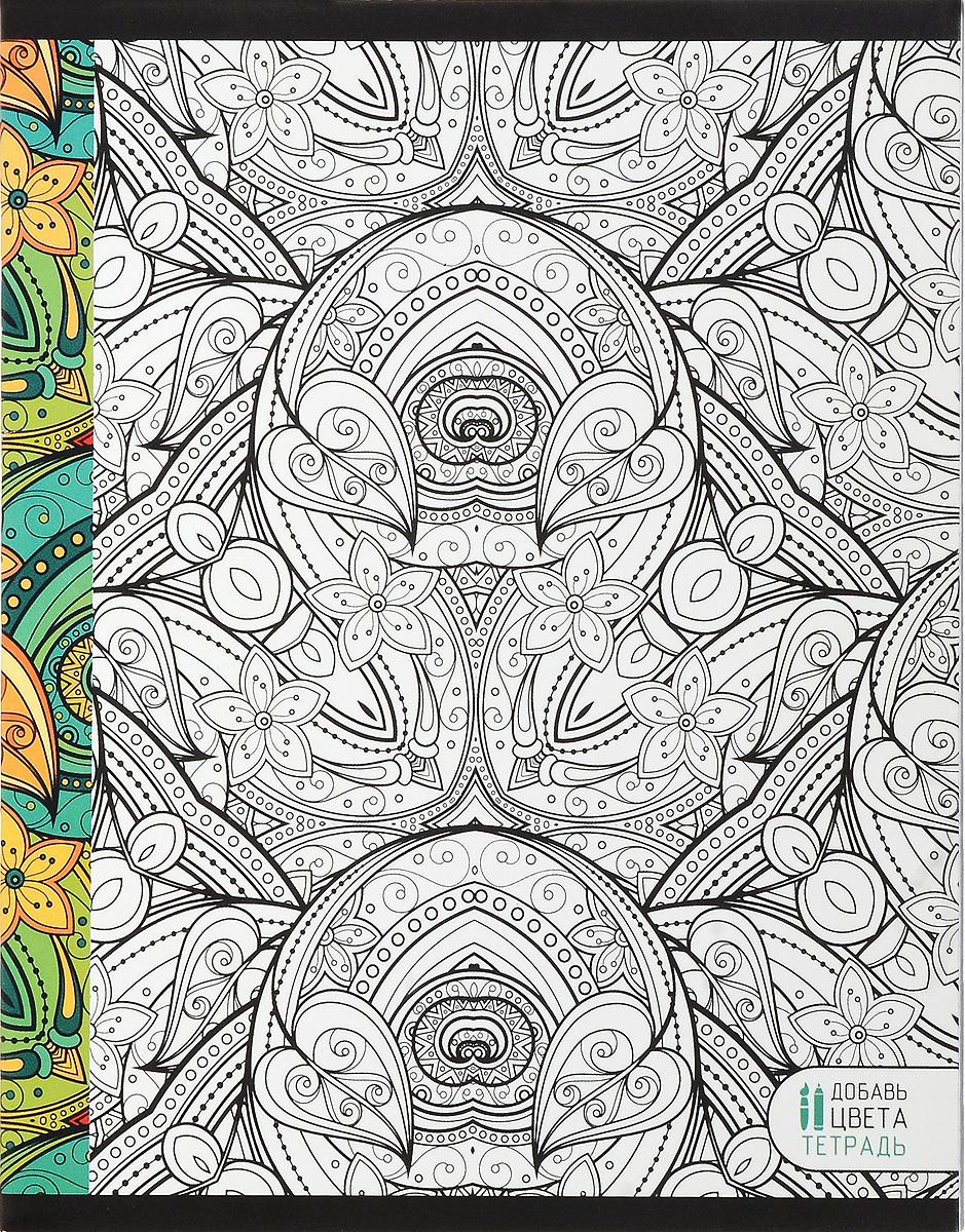Канц-Эксмо Тетрадь Магия цвета 48 листов в клетку цвет зеленыйТК485249_зеленыйТетрадь Магия цвета прекрасно подойдет как для рабочих целей, так и для записей ваших творческих мыслей.В тетради 48 листов офсетной бумаги в клетку формата А5.Плотность бумаги - 60гр/м2.Обложка выполнена из мелованного картона с матовым ВД-лаком и оформлена раскраской.Крепление листов в тетради Магия цвета - скрепка.