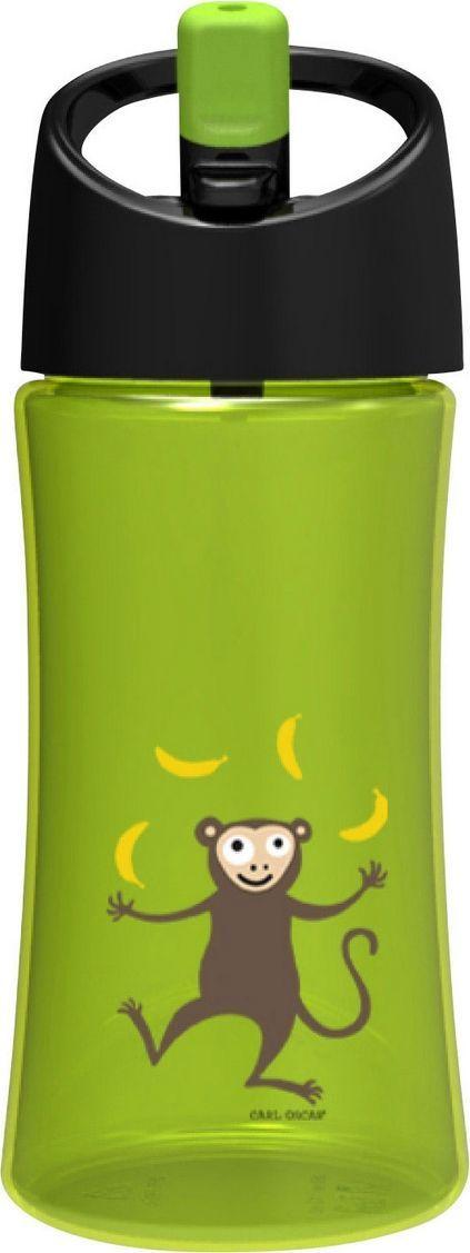 Бутылка для воды детская Carl Oscar Monkey, цвет: лайм, 350 мл102101Эта яркая бутылочка для воды с милой обезьянкой позволяет пить прямо во время ходьбы, не обливаясь и не разливая содержимое вокруг. И все это с улыбкой на лице! Крышка со встроенным держателем снабжена выдвижной трубочкой, из которой детям очень удобно пить. Бутылка имеет объем 0,35л, выполнена из пластика Tritan и полипропилена, которые не содержат бисфенол А и фталаты. Удобная форма бутылочки позволяет легко удерживать ее даже маленькими детскими пальчиками. А благодаря специальной трубочке ребенок может пить, держа бутылку даже вертикально вверх дном. Изображения животных, специально разработанные для продуктов Carl Oscar, - работа известного шведского иллюстратора Линн Элдин. • 100% герметичность• Непроливайка• Оригинальный дизайн с забавными и яркими персонажами • Легко держать в руке благодаря встроенному держателю на ручке• Не содержит бисфенол А и фталаты Дизайн: Carl Oscar®