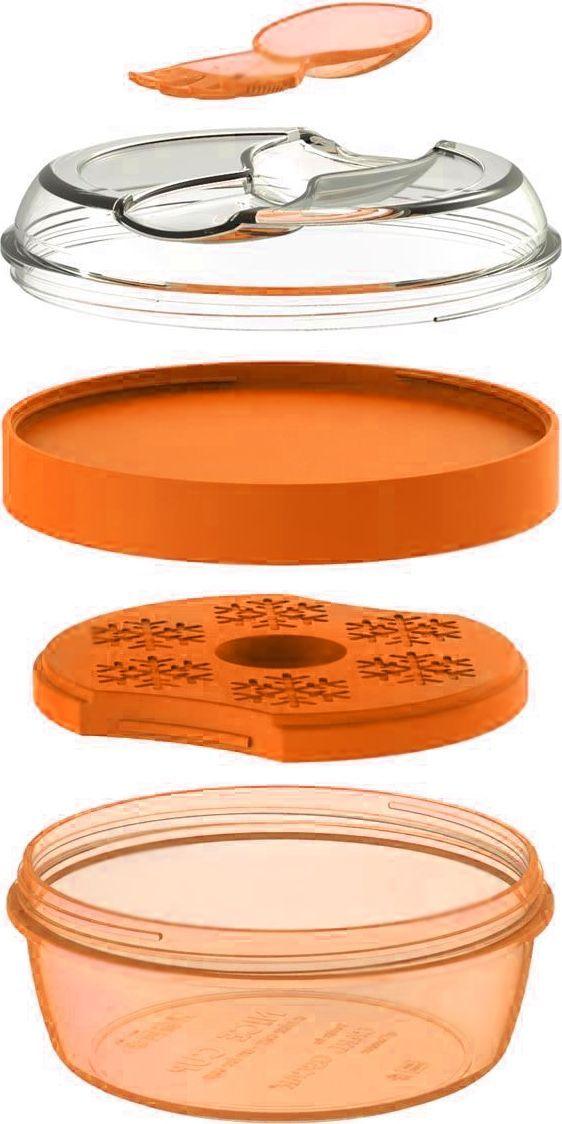 Ланч-бокс Carl Oscar N'ice Cup, с охлаждающим элементом, цвет: оранжевый, 0,45 л кеды dali кеды на танкетке платформе