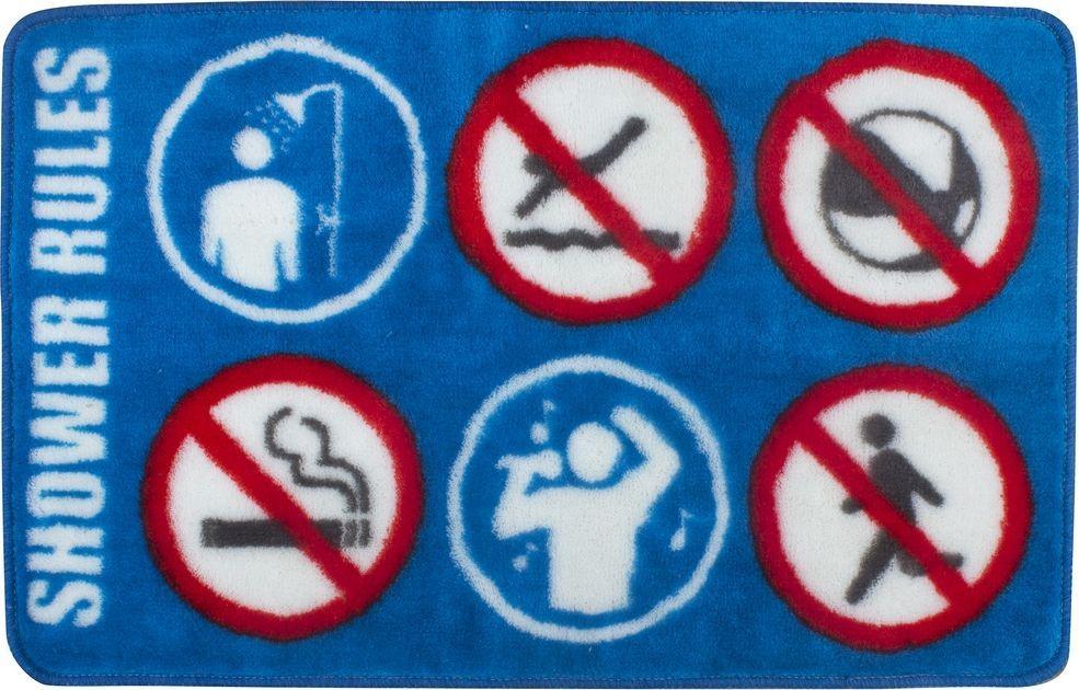 Коврик для ванной Balvi Shower Rule, цвет: синий, 75 х 45 см коврики для ванной balvi коврик для ванной shower rule