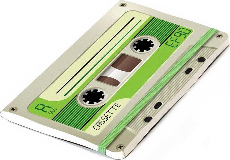 Balvi Записная книжка Record 70 листов цвет зеленый26122gЗаписная книжка является незаменимым атрибутом для людей, которые не всегда могут надеяться на свою память. Если вы привыкли в течение дня делать небольшие заметки или составлять списки необходимых покупок, то записная книжка Record станет вам отличным помощником. Дизайн этого блокнота выполнен в виде аудиокассеты, которая пробудит ностальгические воспоминания у поколений, выросших в 70-90-е года. • Небольшой формат позволит всегда брать записную книжку с собой• Выполнена из нелинованной бумаги хорошего качества• Резинка может выполнять функции удобной закладки• Разные цветовые решения позволят выбрать блокнот по своему вкусу