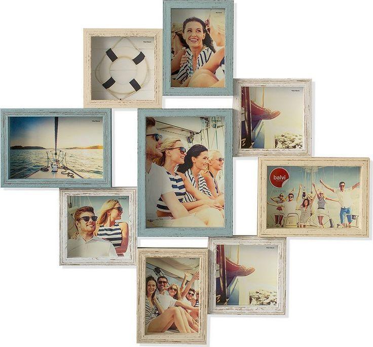 Панно для фотографий Balvi Cap Ferret, цвет: синий, 9 шт26208Уникальный набор для любителей запечатлеть моменты счастливой жизни. Набор Cap Ferret состоит из девяти фоторамок, которые прикреплены друг к другу. Панно отлично смотрится на стене и покажет в гостиной или кабинете самые ценные мгновения вашей жизни. Рамки Cap Ferret изготовлены из прочного дерева и имеют квадратную и прямоугольную формы. Панно обладает необычным винтажным и слегка «потертым» стилем, который придаст вашим воспоминаниям теплый сентиментальный оттенок. Рамки для фотографий Cap Ferret станут отличным подарком любому человеку, которому дороги его воспоминания.• Винтажный стиль панно украсит любой интерьер • Панно изготовлено из дерева• 9 рамок для фото соединены между собой