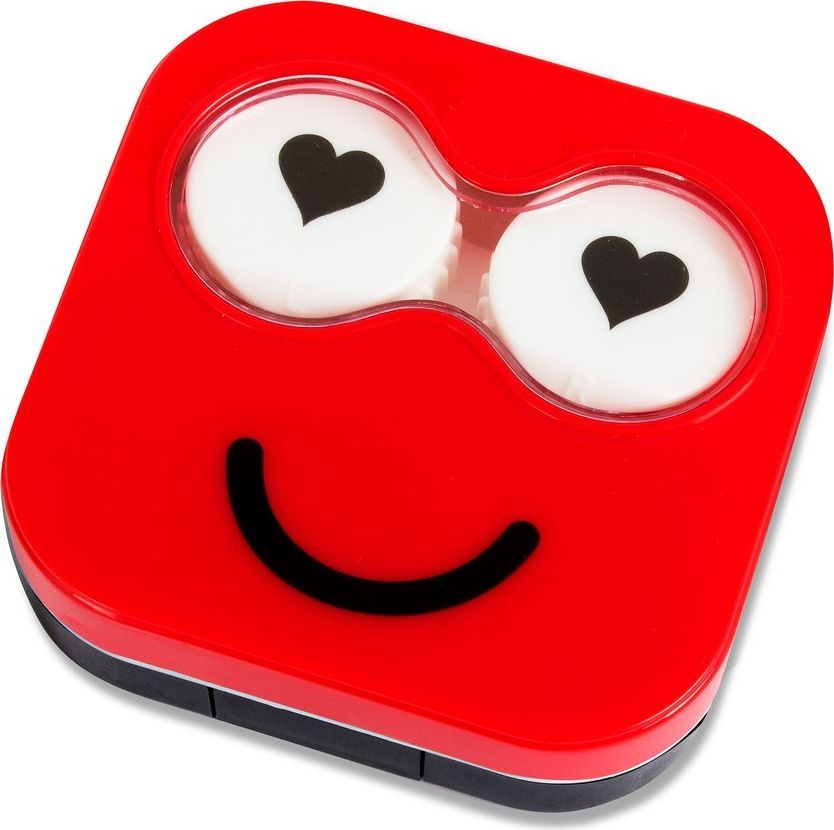 Balvi Набор для контактных линз Emoji, цвет: красный