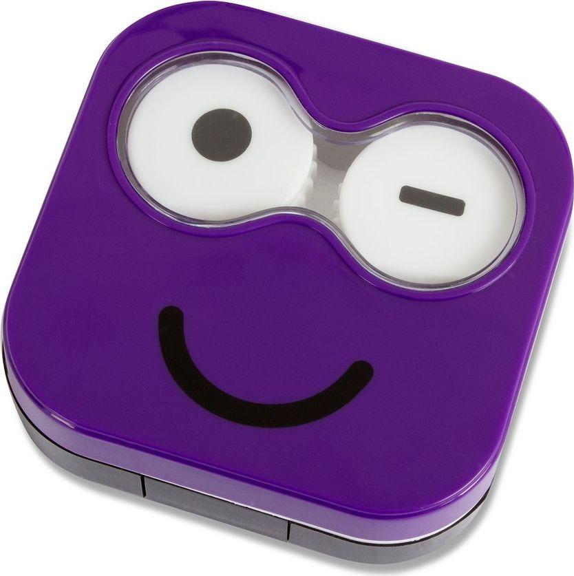 Balvi Набор для контактных линз Emoji, цвет: фиолетовый26346Если вы хотите изменить цвет своих глаз, то приобретите цветные линзы, а вместе с ними стильный и полезный набор для контактных линз Emoji. Миниатюрный и компактный набор словно создан для того, чтобы его брали с собой в поездки. Там есть все, что может вам понадобиться для снятия контактных линз. От вашего ухода за линзами целиком и полностью зависит здоровье ваших глаз, а с таким набором за это переживать не придется. Дизайн набора выполнен в виде подмигивающего фиолетового смайлика, который словно намекает, что ношение линз может не доставлять никакого дискомфорта.• В набор входит: контейнер для линз, емкость для раствора, пинцет, зеркало • Не придется брать с собой большую бутылку с раствором • Оригинальный стильный дизайнКонтактные линзы или очки: советы офтальмологов. Статья OZON Гид