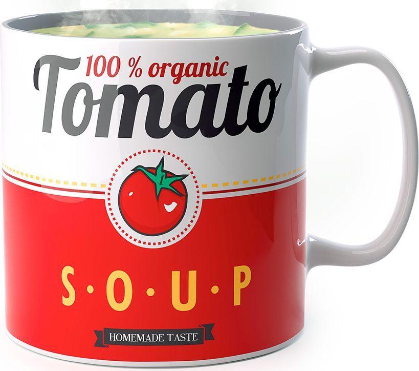 Кружка для супа Balvi Tomato, цвет: белый, красный, 500 мл26394Мы привыкли, что первые блюда должны подаваться исключительно в тарелках, но не всегда есть возможность взять с собой посуду. В таких случаях на выручку придет кружка для супа Tomato от испанского бренда Balvi. Кружка для супа имеет вместительный объем, а форма изделия надолго сохранит температуру. Стильный дизайн привлечет внимание окружающих, а стандартная форма позволит использовать кружку не только под супы, но и под любые напитки. Универсальность использования.Материал – керамика, экологичный и безопасный.Практичная и удобная кружка объемом 500 мл.Долговечность и простота ухода.