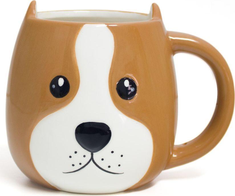 Кружка Balvi Woof!, цвет: коричневый, 400 мл26792Кружка Woof от испанского бренда Balvi – идеальное решение для любителей собак и почитателей оригинальной посуды. Неординарный дизайн в виде мордочки собаки будет всегда напоминать о своем питомце, а вместительный объем позволит долго наслаждаться вкусом и ароматом напитка. Кружка изготовлена из керамики, являющейся экологически чистым материалом, не выделяющим токсических веществ под длительным влиянием высоких температур. Керамика характеризуется долгим сроком службы и простотой ухода – мыть кружку можно как вручную, так и в посудомоечной машине.• Оригинальный дизайн.• Экологически чистый материал.• Долгосрочность и практичность.• Простота в уходе.