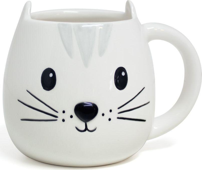 Кружка Balvi Kitty, цвет: белый, 400 мл26794Керамическая кружка Kitty от испанского бренда Balvi представляет собой сочетание оригинального дизайна с минималистичным принтом. Классический белый цвет с небольшим рисунком не бросается в глаза, но при этом формирует мягкую домашнюю атмосферу, а наличие милых ушек по бокам кружки вносит нотки юмора и оригинальности.Материал кружки – керамика, что гарантирует экологичность и гипоаллергенность, простоту использования и ухода за изделием. Кружка будет отлично смотреться в качестве презента.• Оригинальное дизайнерское оформление• Экологичность, безопасность материала• Высокое качество и большой объем в 400мл