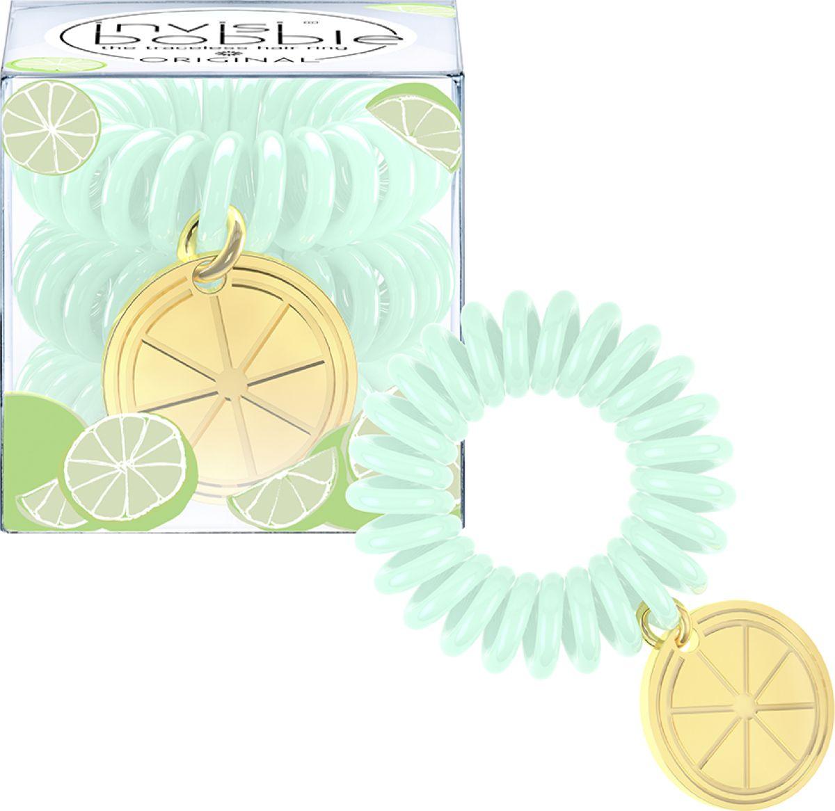 Invisibobble Резинка-браслет для волос Tutti Frutti Lime Time, 3 шт lime time кпб sateen comfort евро1 доминика 2 син борд
