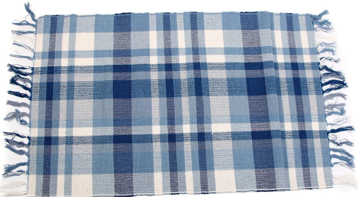 Коврик для ванной Arloni, самотканый, цвет: голубой, 60 x 90 см. 102/20ARL102/20ARL