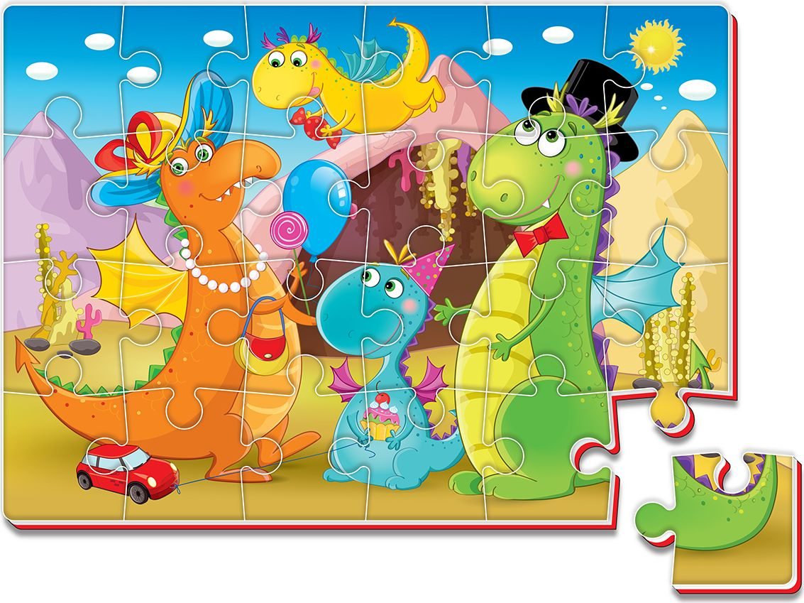 Roter Kafer Пазл Динозавры набор мини динозавры и пазл schleich набор мини динозавры и пазл