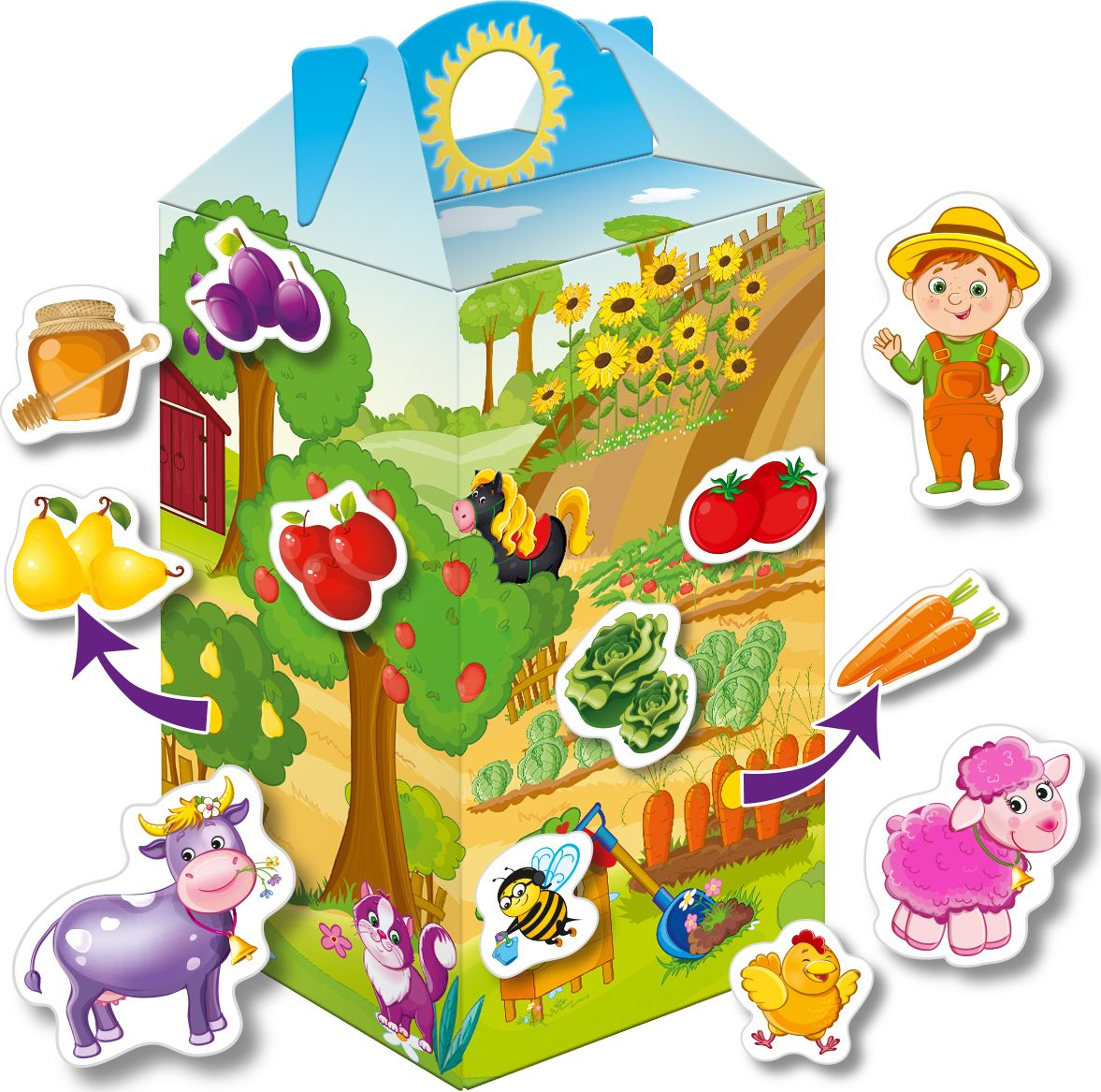 Vladi Toys Игра с липучками Живу на ферме vladi toys игра фрукты овощи vladi toys