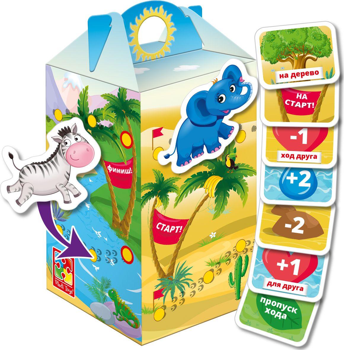 Vladi Toys Игра с липучками Беги, слоник! vladi toys игра слышим видим нюхаем vladi toys
