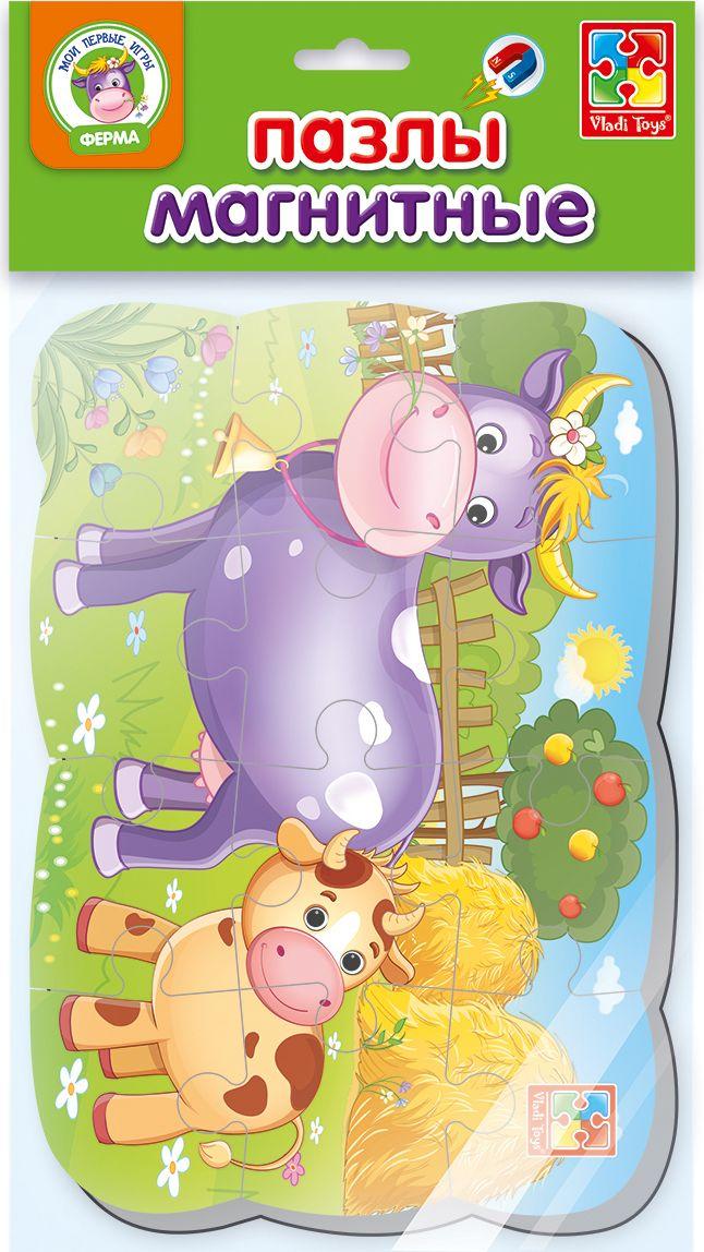 Vladi Toys Пазлы на магните Мои первые игры Коровка пазлы vladi toys магнитные беби пазлы домашние любимцы