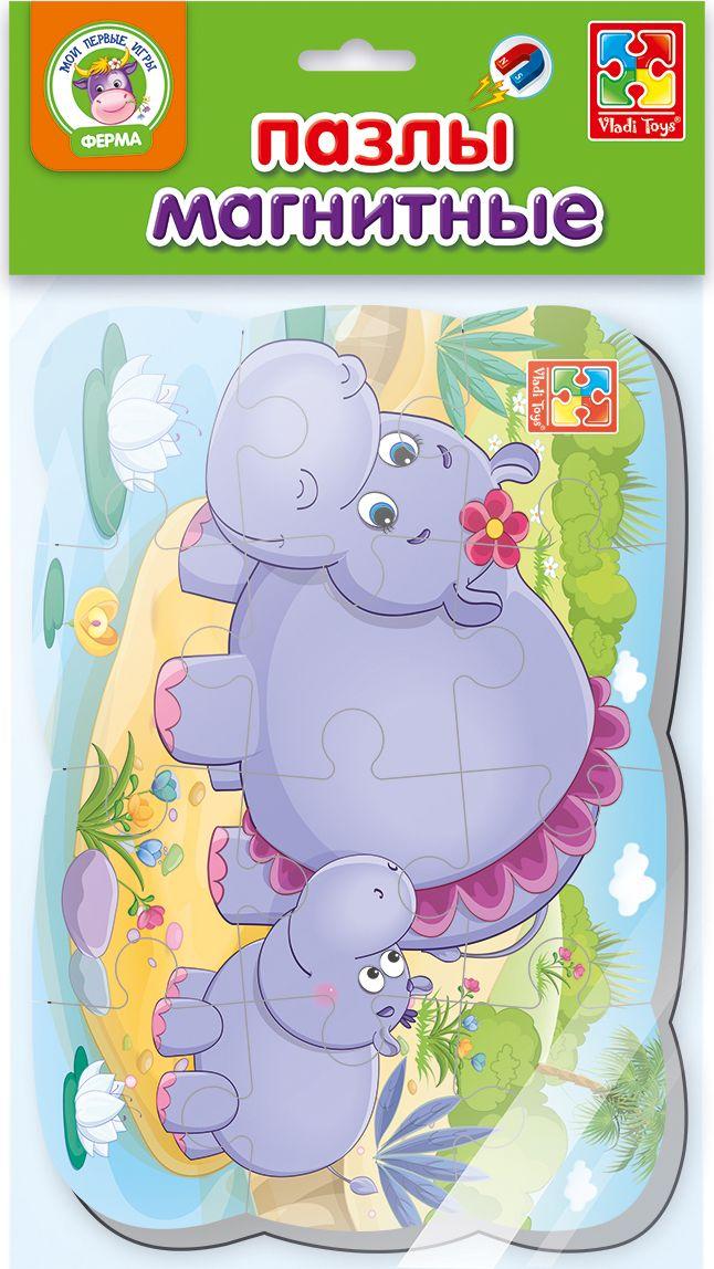 Vladi Toys Пазл для малышей Мои первые игры Бегемот