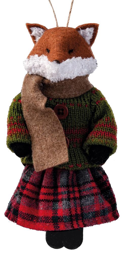Украшение для интерьера новогоднее Erich Krause Лисица в красной юбке, 16,5 см38545_красная юбкаСувениры из валяной шерсти являются модным Трендом сезона. Ворона на качелях с черным кругом на пузе выглядит крайне весело и поднимает настроение только одним своим оптимистичным видом. Изделие легко вешается за веревочную часть качелей, но также будет убедительно смотреться и на рабочем столе. Очень стильный сувенир. Упаковка - полибэг.