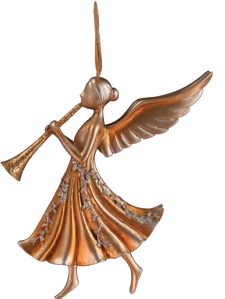 Украшение для интерьера новогоднее Erich Krause Ангел с дудочкой вниз, 11 см33683_труба внизуАнгел является одним из самых популярных новогодних украшений. Модель изящная и утонченная, деликатно декорирована золотыми блестками.