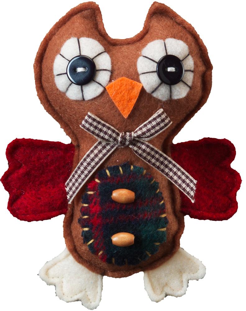 Украшение для интерьера новогоднее Erich Krause Летающий совенок, цвет: коричневый, 12,5 см41081_коричневыйСовенок выполнен из шерстяной ткани в стиле пэчворк. Представлено две модели в ассортименте. Выбор модели невозможен. Упаковка - полибэг.