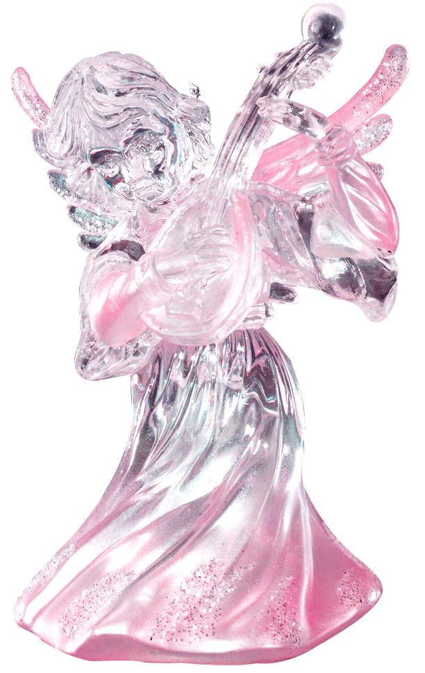 Украшение для интерьера новогоднее Erich Krause Ангел музыки с гитарой, 9 см43433_гитараАнгелы всегда являются одними из самых популярных новогодних украшений. Данное изделие отличается плавным переходом от прозрачного к нежно-розовому цвету. В руках у ангела находится музыкальный инструмент, а его крылья деликатно присыпаны блестками.