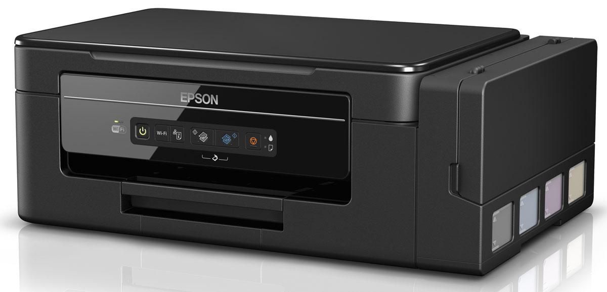 Epson L3050 МФУ62EPMFL3050Epson L3050 — это МФУ 3–в-1 (принтер, сканер и копир) нового поколения. Эта модель использует для печати компактные, полностью интегрированные в корпус, чернильные емкости вместо картриджей, что обеспечивает существенную экономию как денег, так и рабочего пространства. Проверенная временем надежность и качественная печать в купе с высокой экономичностью делают это МФУ отличным решением для печати документов и фотографий.Отличительной особенностью данного МФУ от устройств предыдущего модельного ряда является принципиально новая конструкция чернильных емкостей. Теперь они полностью интегрированы в корпус, что уменьшает ширину устройства, практически на 4 см!1 Кроме того, больше вам не нужно отсоединять чернильные емкости для заправки. Просто откройте крышку и перелейте чернила из контейнера в емкость печатающего устройства. При этом удалось сохранить показатели стоимости владения и ресурс расходных материалов.Вам не потребуется покупать дополнительные чернила, потому что в комплект поставки уже входит набор контейнеров с чернилами. Одного набора контейнеров хватит, чтобы распечатать до 7500 цветных и 4500 ч/б документов.Беспроводное подключение по Wi-Fi. Преимущества беспроводного подключения в том, что находясь в любом уголке квартиры или офиса, пользователь может оперативно распечатать необходимые документы или фотографии с любого устройства с поддержкой Wi-F или отсканировать на него необходимые материалы. Кроме того, вы можете сэкономить место на рабочем столе, установив принтер в удобном месте.Epson L3050 печатает не только черно-белые и цветные документы (с графикой), но и отлично справляется с печатью фотографий до формата А4. Оригинальные чернила и технологичная печатающая головка Epson Micro Piezo обеспечивают яркие цвета и четкие детали на фотографиях — как с полями, так и без (печать в край).Благодаря уникальной технологии печати Epson Micro Piezo и точному контролю давления в емкостях с чернилами вы всегда получаете отпечатки прев