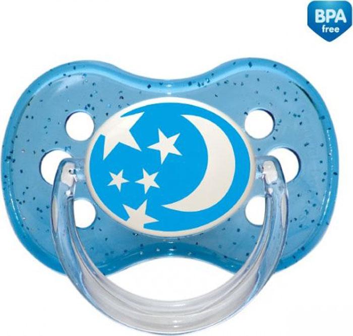 Canpol Babies Пустышка круглая силиконовая Nature от 0 до 6 месяцев цвет голубой