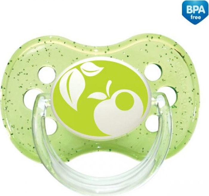 Canpol Babies Пустышка круглая силиконовая Nature от 6 до 18 месяцев цвет зеленый