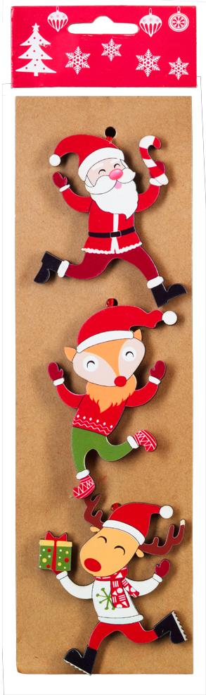 Набор новогодних украшений для интерьера Erich Krause Праздничное веселье: Дед Мороз, лиса и олень, 8,5 см, 3 шт43837_Дед Мороз, лиса, оленьНабор включает в себя три праздничных украшения. Размер каждого изделия 8.5 см. Изделия плотно зафиксированы на картонной подложке. Коллекция декоративных украшений принесет в ваш дом ни с чем не сравнимоеощущение волшебства!