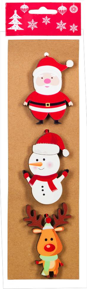 Набор новогодних украшений для интерьера Erich Krause Праздничное веселье: Дед Мороз, олень и снеговик, 8,5 см, 3 шт43837_Дед Моро, олень, снеговикНабор включает в себя три праздничных украшения. Размер каждого изделия 8.5 см. Изделияплотно зафиксированы на картонной подложке. Коллекция декоративных украшений принесет в ваш дом ни с чем не сравнимоеощущение волшебства! Откройте для себя удивительный мир сказок и грез.