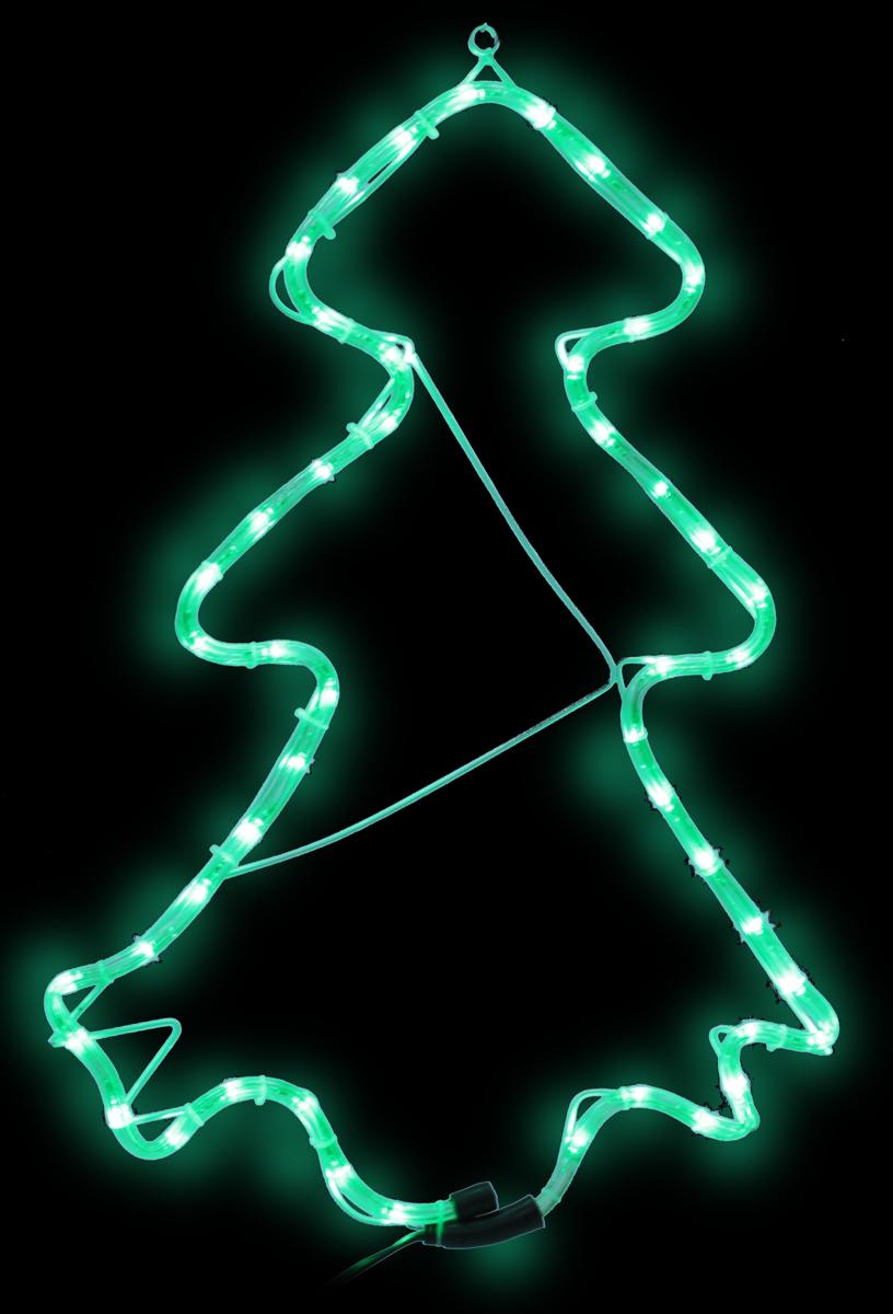 B&H Светодиодная фигура Елка из светового шнура, 48 LED, цвет: зеленый, 63,5 х 42 смBH0710Фигура Елка выполнена из прозрачного светодиодного шнура с зелеными светодиодами (48 LED), смонтированного на жестком металлическом каркасе. С обратной стороны фигуры предусмотрен крючок для ее подвешивания. Применяется как внутри, так и снаружи помещений.Длина сетевого шнура - 3 м. Размер - 63,5 х 42 см.