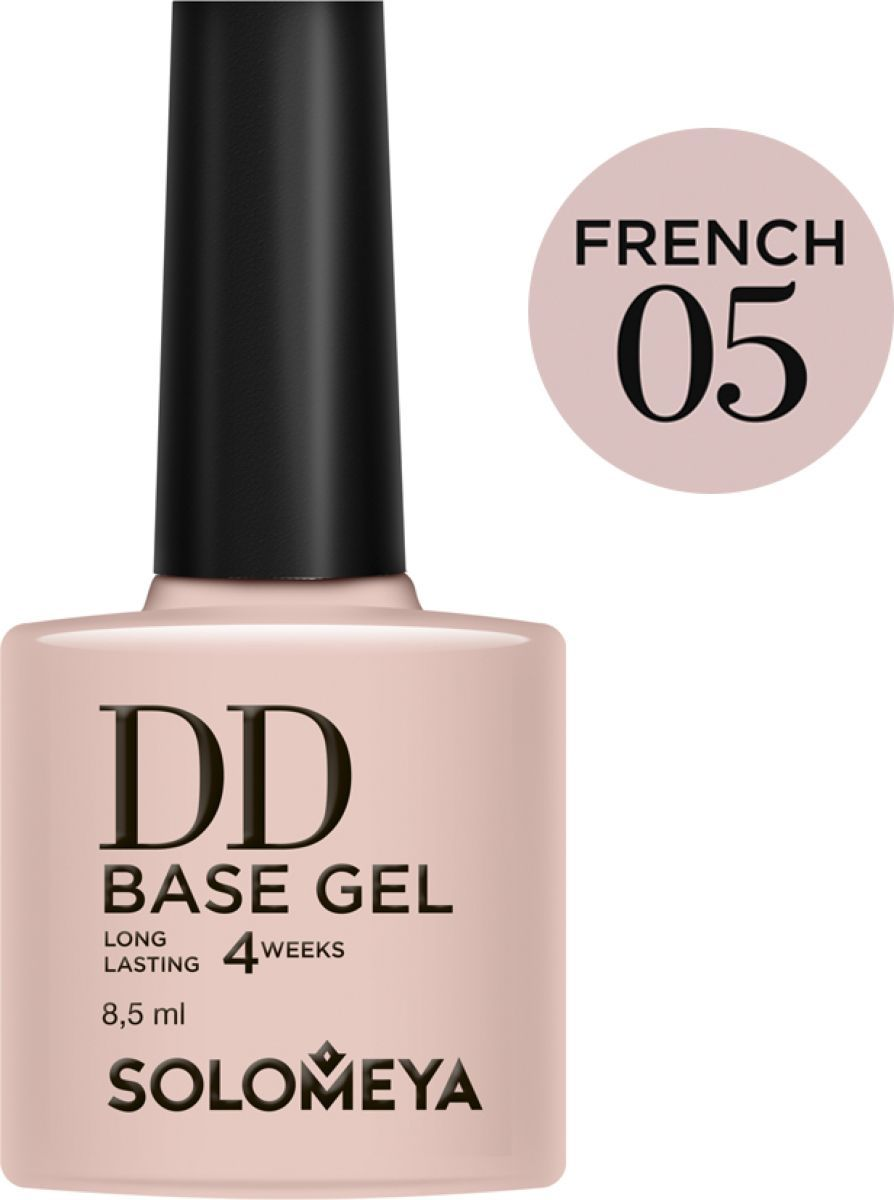 Solomeya Суперэластичная DD-база (Daily Defense) цвет French 05/DD Base Gel (French 05), 8,5 мл полотенце aquarelle мадагаскар леопард 70x140cm white calm blue 713181