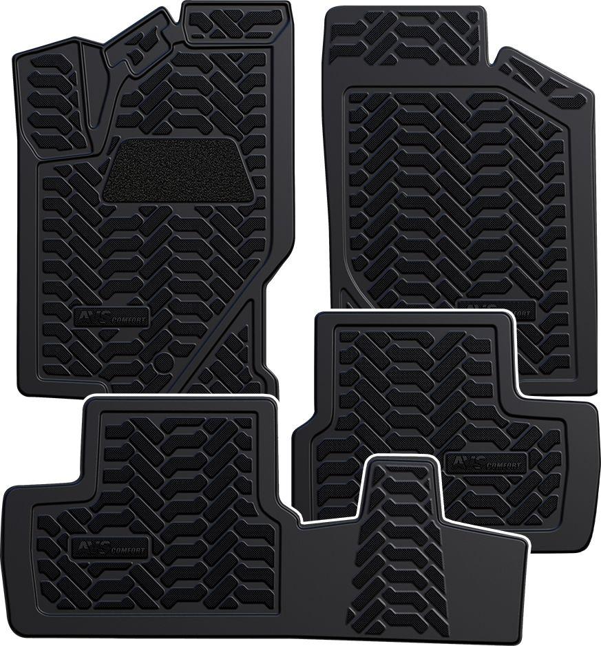 Набор автомобильных 3D ковриков AVS для Lada Granta 2011-, в салон, 4 предметаA78276SНабор AVS состоит из 4 ковриков, изготовленных из термоэластопласта. Основная функция ковров - защита салона автомобиля от загрязнения и влаги. Это достигается за счет высоких бортов, перемычки на тоннель заднего ряда сидений, элементов формы и текстуры, свойств материала, а также запатентованной технологией 3D-перемычки в зоне отдыха ноги водителя, что обеспечивает дополнительную защиту, сохраняя салон автомобиля в первозданном виде. Материал, из которого сделаны коврики, обладает антискользящими свойствами. Для фиксации ковров в салоне автомобиля в комплекте с ними используются специальные крепежи. Форма передней части водительского ковра, уходящая под педаль акселератора, исключает нештатное заедание педалей.