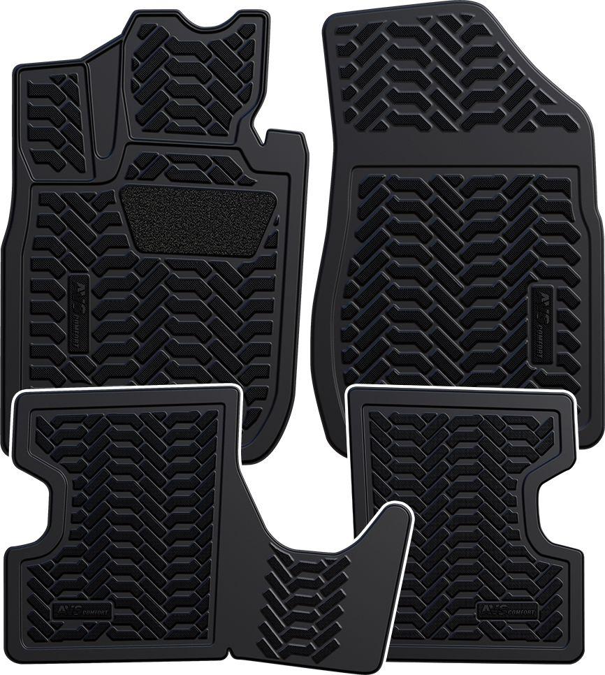 """Набор автомобильных 3D ковриков """"AVS"""" для Lada Largus 2012-, в салон, 4 предмета"""