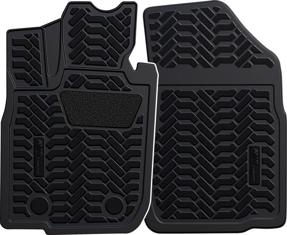 """Набор автомобильных 3D ковриков """"AVS"""" для Lada Largus фургон 2012-, в салон, 2 предмета"""
