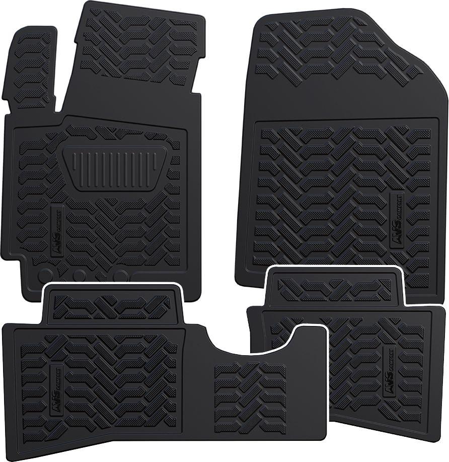 Набор автомобильных 3D ковриков AVS для Hyundai Solaris 2010-17, в салон, 4 предметаA78727SНабор AVS состоит из 4 ковриков, изготовленных из термоэластопласта. Основная функция ковров - защита салона автомобиля от загрязнения и влаги. Это достигается за счет высоких бортов, перемычки на тоннель заднего ряда сидений, элементов формы и текстуры, свойств материала, а также запатентованной технологией 3D-перемычки в зоне отдыха ноги водителя, что обеспечивает дополнительную защиту, сохраняя салон автомобиля в первозданном виде. Материал, из которого сделаны коврики, обладает антискользящими свойствами. Для фиксации ковров в салоне автомобиля в комплекте с ними используются специальные крепежи. Форма передней части водительского ковра, уходящая под педаль акселератора, исключает нештатное заедание педалей.