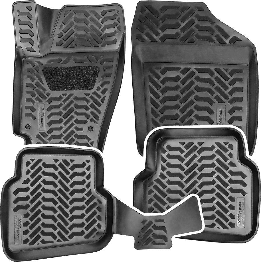 Набор автомобильных 3D ковриков AVS для VW Polo SD 2010-, в салон, 4 предметаA78753S1. Спроектированы с помощью 3D моделирования . Ковры для салона автомобиля: создают ощущение полного слияния с интерьером.2. Высокий борт Ковры для салона автомобиля: 30 мм.3. Уникальный подпятник из износоустойчивого материала обеспечит продолжительный срок службы изделия, а в зимний период убережет от образования луж под ногами4. Перемычка между задними коврами.5. Отсутствие резкого запаха, благодаря использованию высококачественного сырья6. Материал: ТЕРМОЭЛАСТОПЛАСТ (ТЭП) - благодаря высокому содержанию каучука (до 55 %), более износоустойчивые по сравнению с резиновыми и полиуретановыми коврами других производителейПри температуре меньше -25 не «дубеют» и по ним не скользят ногиЛегко моются, обладают повышенной износостойкостью7. Легкий вес – в 2 раза легче резиновых8. Установка ковров - предусмотрены места для штатных креплений.Если в автомобиле предусмотрены штатные крепления для ковров, можно использовать оригинальный крепеж.