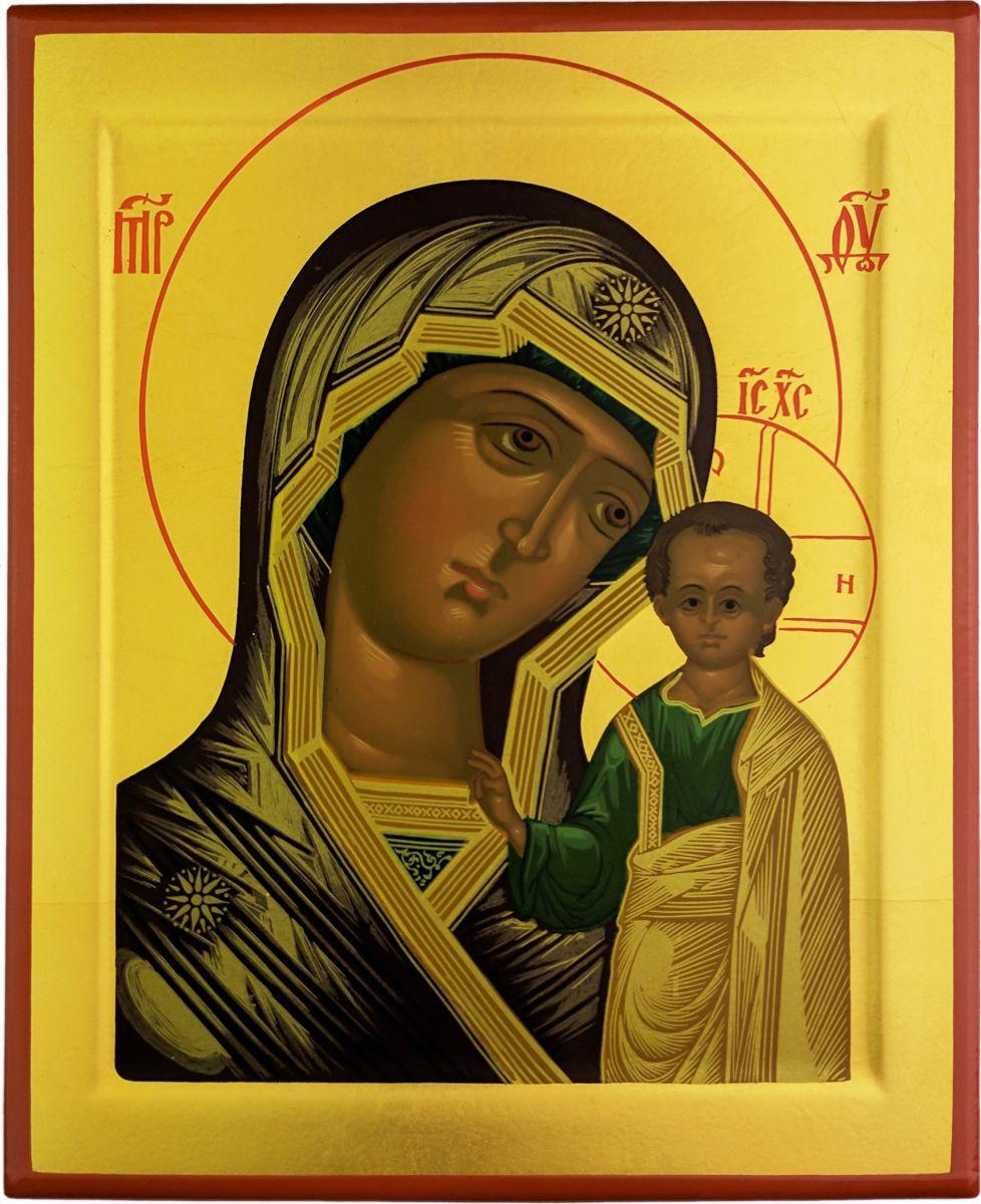 """Икона Platinum """"Богородица Казанская"""" является аутентичной копией известной средневековой иконы московской школы, выполненная в технике шелкографии по дереву. Изображение покрыто лаком."""