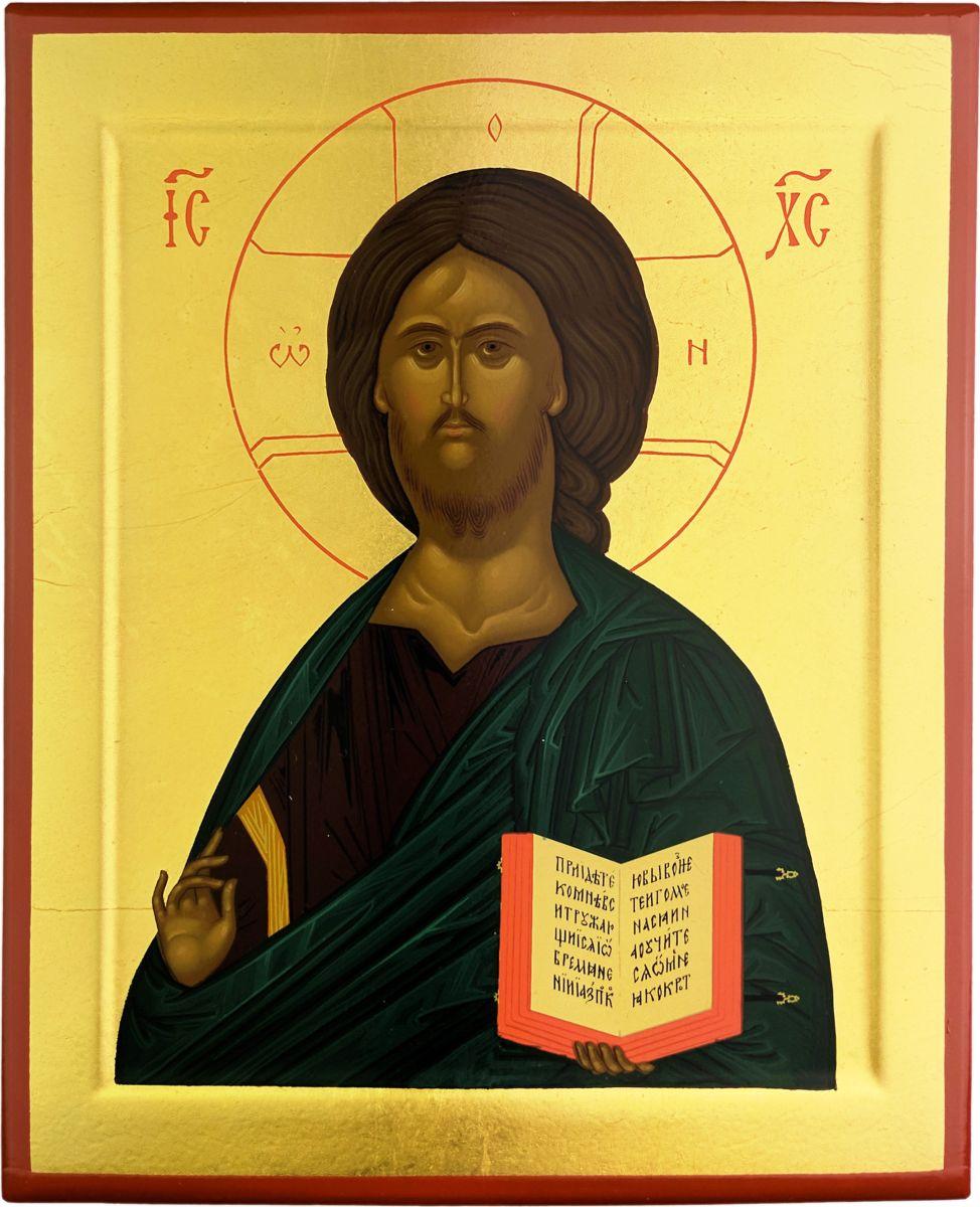 """Икона Platinum """"Спаситель с Евангелием"""" является аутентичной копией известной средневековой иконы московской школы, выполненная в технике шелкографии по дереву. Изображение покрыто лаком."""