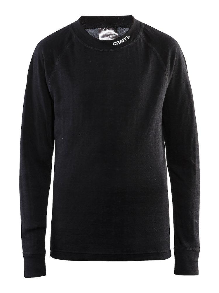Термобелье комплект детский: брюки, кофта Craft Nordic Wool, цвет: черный. 1905356/999975. Размер 98/104 - Одежда