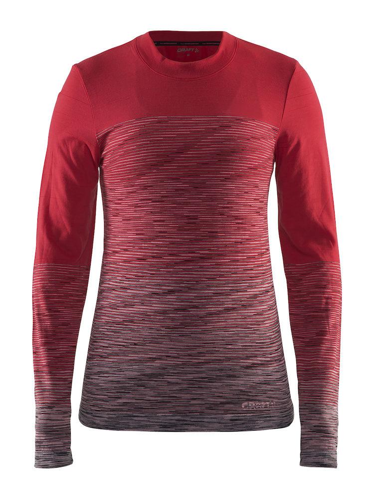Термобелье кофта женская Craft Wool Comfort 2.0, цвет: красный. 1905341/452975. Размер L (48)1905341/452975Мягкая рубашка из смесовой шерсти, поддерживающая сухость, тепло и комфорт в любых условиях.
