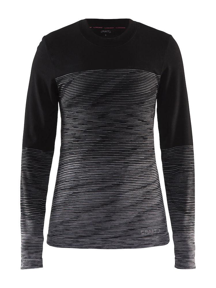 Термобелье кофта женская Craft Wool Comfort 2.0, цвет: черный. 1905341/999975. Размер L (48)1905341/999975Мягкая рубашка из смесовой шерсти, поддерживающая сухость, тепло и комфорт в любых условиях.