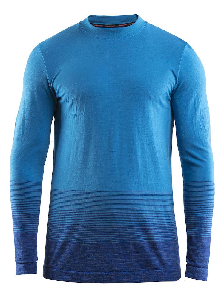 Термобелье кофта мужская Craft Wool Comfort 2.0, цвет: синий. 1905344/392355. Размер L (50)1905344/392355Мягкая рубашка из смесовой шерсти, поддерживающая сухость, тепло и комфорт в любых условиях.
