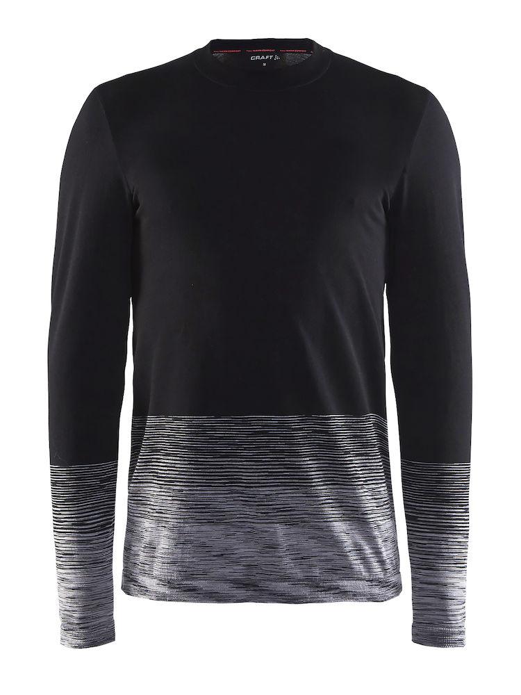 Термобелье кофта мужская Craft Wool Comfort 2.0, цвет: черный. 1905344/999975. Размер M (48)1905344/999975Мягкая рубашка из смесовой шерсти, поддерживающая сухость, тепло и комфорт в любых условиях.