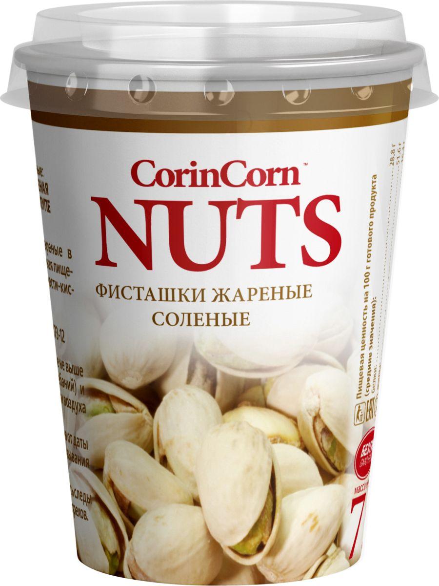 CorinCorn фисташка жареная соленая в скорлупе, 75 гН00004906Всеми любимые фисташки в эргономичном стакане с платинкой, 75 гр.