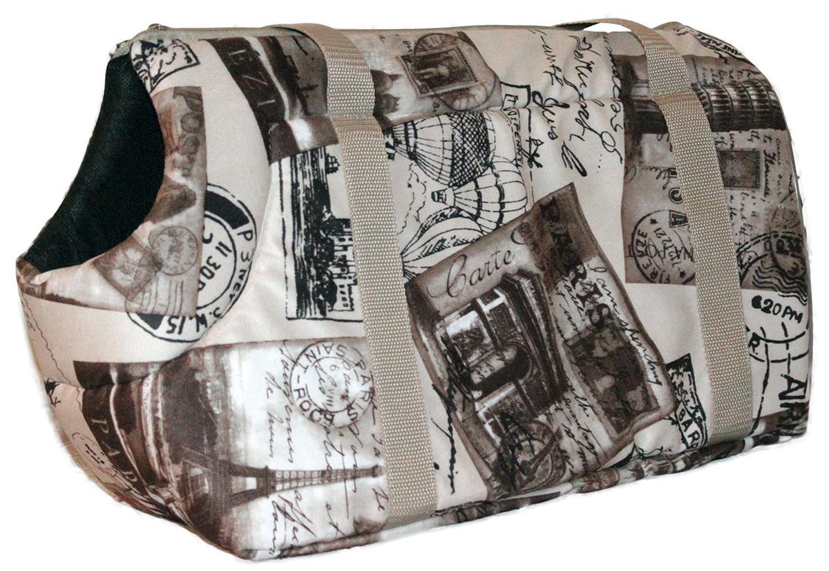 Сумка-переноска для животных Теремок, 41 х 22 х 25 см сумка переноска для животных теремок цвет голубой синий белый 44 х 19 х 20 см
