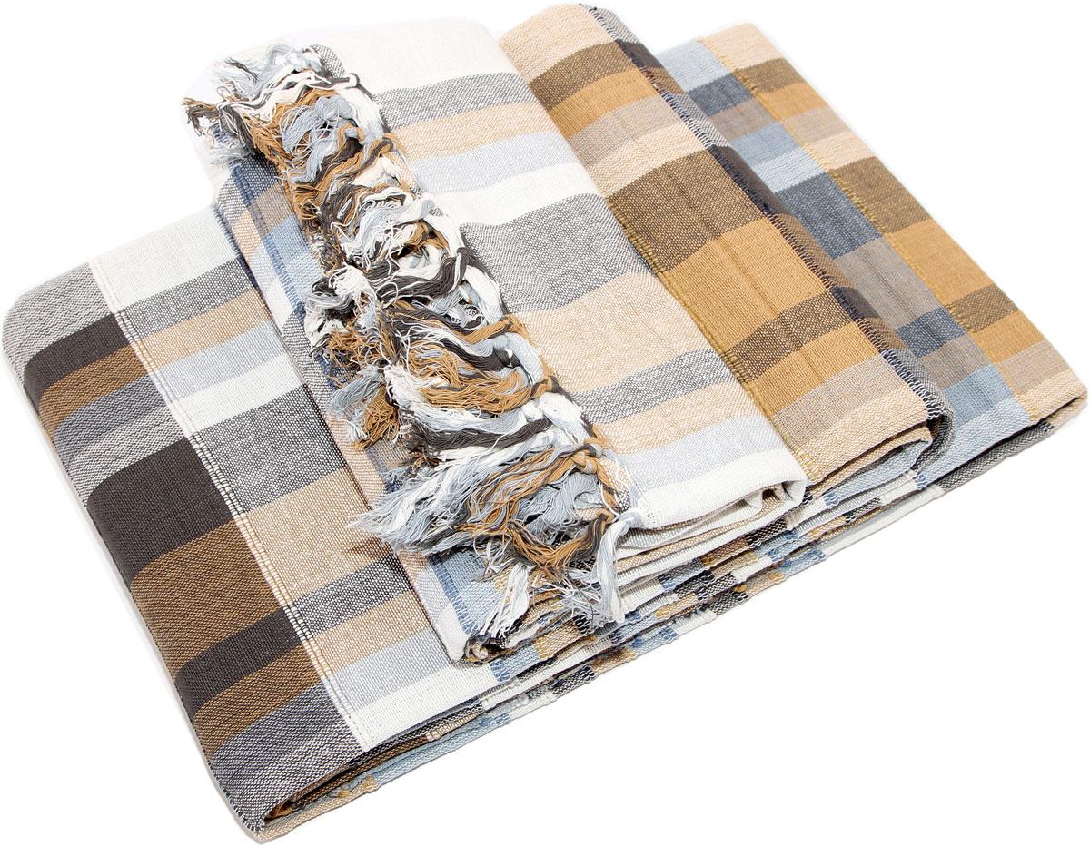 """Покрывало """"Arloni"""" изготовлено из экологически чистого материала - 100% хлопка,  поэтому подходит как для взрослых, так и для детей. Изделие, декорированное  принтом """"в клетку"""", прекрасно оформит интерьер гостиной или спальни. Оно  будет хорошо смотреться и на диване, и на большой кровати.  Покрывало """"Arloni"""" не только подарит тепло, но и гармонично впишется в  интерьер вашего дома."""
