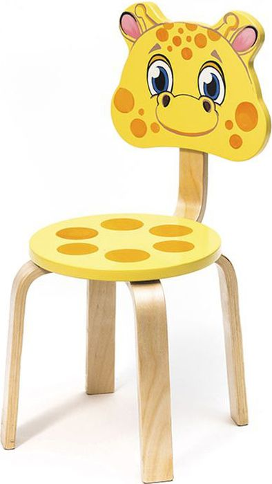 Крошка.RU Мордочки Стул детский Жирафик цвет желтый -  Детская комната